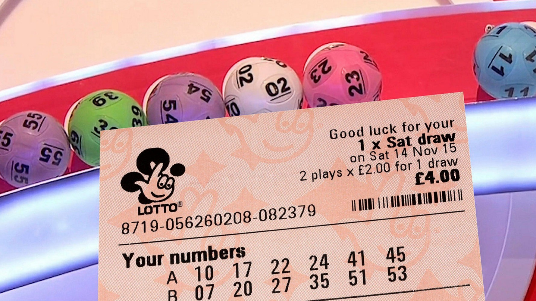 Playing the national lottery online
